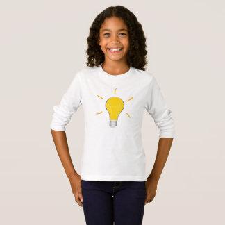 Kreative Idee der Glühlampe T-Shirt