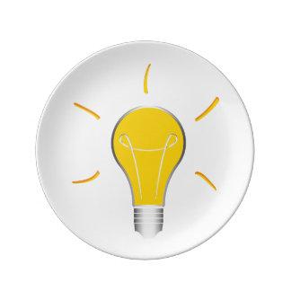 Kreative Idee der Glühlampe Teller