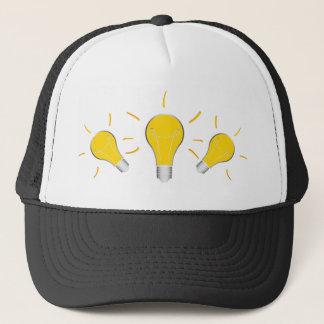 Kreative Idee der Glühlampe Truckerkappe