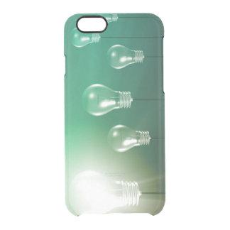 Kreative Innovation und glühendes Konzept als Durchsichtige iPhone 6/6S Hülle
