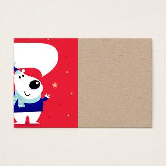 Kreative KindVisitenkarte mit Teddybären Visitenkarte