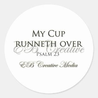 Kreative Medien EB - meine Schale Runneth vorbei Runder Aufkleber