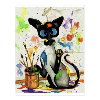 Kreative Miezekatze-Katze Postkarte