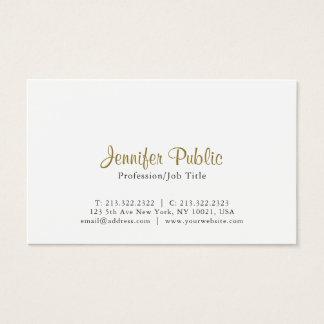 Kreative moderne elegante weiße einfache Ebene Visitenkarte