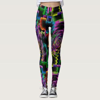 Kreative, mutige u. multi Farbe mit einem Leggings