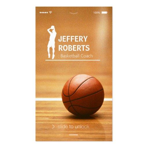 Kreativer Basketball-Trainers-Basketball-Trainer Visitenkarte