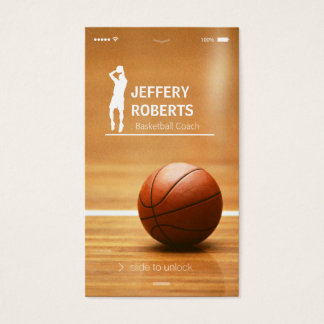 Kreativer Basketball-Trainers-Basketball-Trainer Visitenkarten