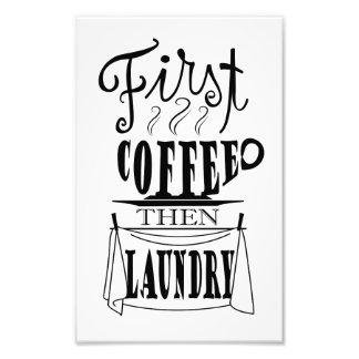 Kreativer Zitatentwurf der ersten Wäscherei des Fotodruck