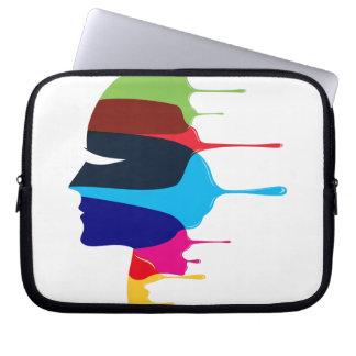 Kreatives Gesicht Laptop Sleeve