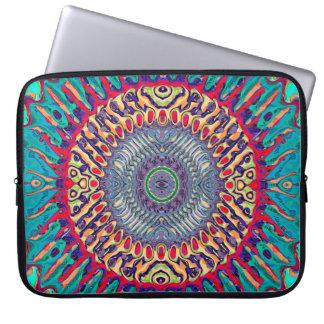 Kreatives konzentrisches abstraktes laptop computer schutzhüllen