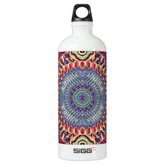 Kreatives konzentrisches abstraktes wasserflasche