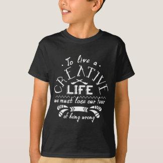 Kreatives Leben-Kleid T-Shirt