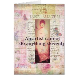 Kreatives Zitat über Künstler durch Jane Austen Karte