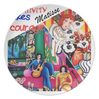 Kreativität der Matisse Malereicollage Flache Teller