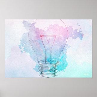 Kreativitäts-und Geschäfts-Innovation als Konzept Poster