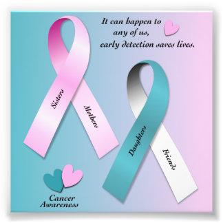 Krebs-Bewusstsein Fotodruck