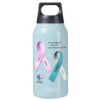 Krebs-Bewusstsein Isolierte Flasche