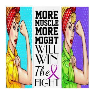 Krebs-Bewusstsein können wir es tun Triptychon
