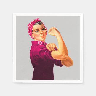 Krebs-Bewusstsein Rosie der Nieteneinschläger Papierserviette