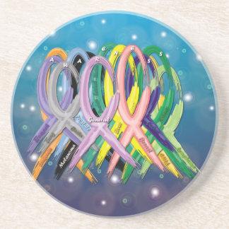 Krebs-Bewusstseins-Bänder Getränkeuntersetzer
