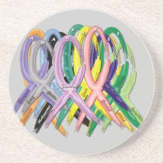 Krebs-Bewusstseins-Bänder Untersetzer