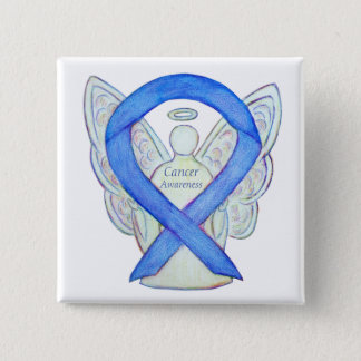 Krebs-Bewusstseins-violette Quadratischer Button 5,1 Cm
