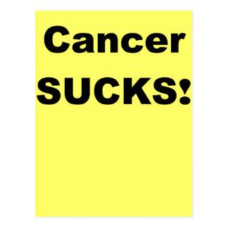 Krebs ist zum Kotzen Postkarte