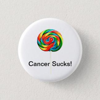 Krebs ist zum Kotzen Runder Button 2,5 Cm