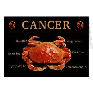 Krebs-Krabben-Tierkreis-Karte mit Merkmalen Karte