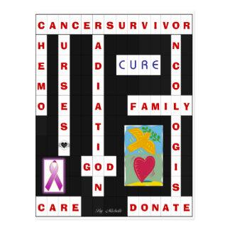 Krebs-Kreuzworträtsel Postkarte