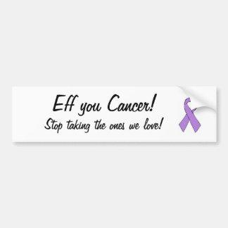 Krebs ribbon.jpg, EFF Sie Krebs! , Nehmender Halt… Autoaufkleber