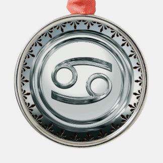 Krebs Silbernes Ornament