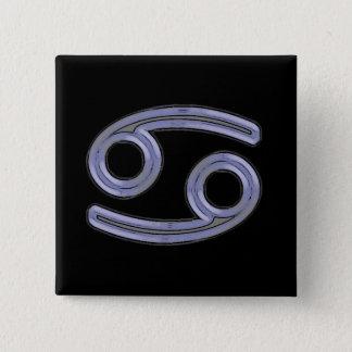 Krebs-Stern-Zeichen-Symbol Quadratischer Button 5,1 Cm