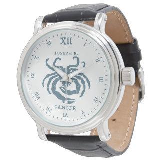 Krebs-Stern-Zeichen-Vintage Kunst | besonders Armbanduhr
