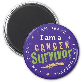 Krebs-Überlebend-Magnet Runder Magnet 5,1 Cm
