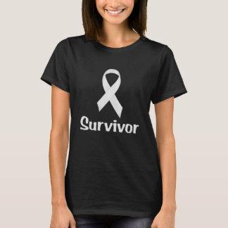 Krebs-Überlebend-Weiß T-Shirt
