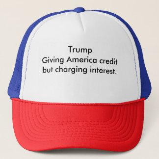 Kredit und Interesse Truckerkappe