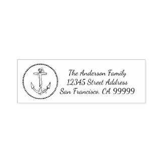 Kreis-Anker - Selbst, der Adressen-Briefmarke mit Permastempel