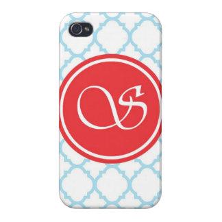 Kreis-Blau iPhone 4 Cover