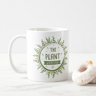 Kreis-Blume verlässt die Pflanze Whisperer-Schön Kaffeetasse