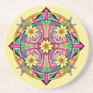 Kreis der Blumen - Sandstein Untersetzer