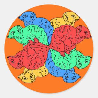 Kreis der Farborange Aufkleber