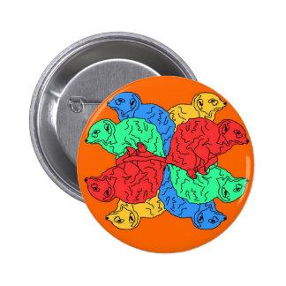 Kreis der Farborange Anstecknadel
