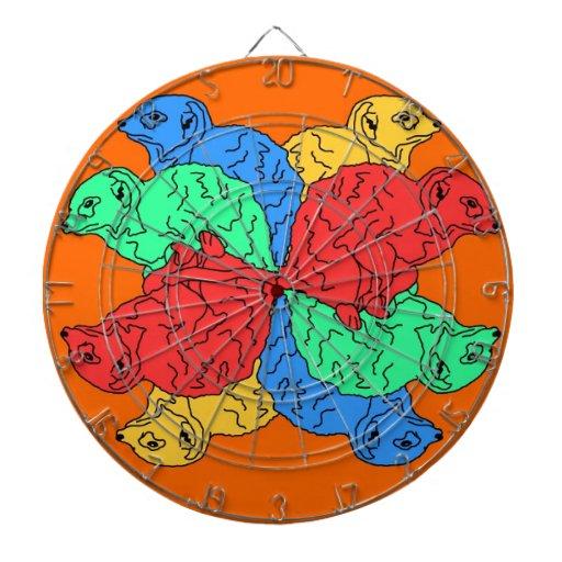 Kreis der Farborange Dart-scheibe