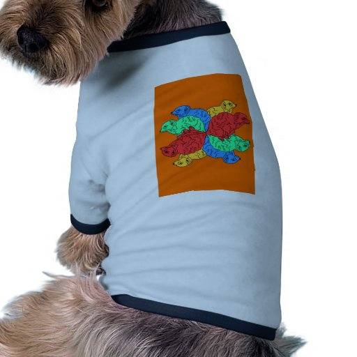 Kreis der Farborange Hund T Shirts