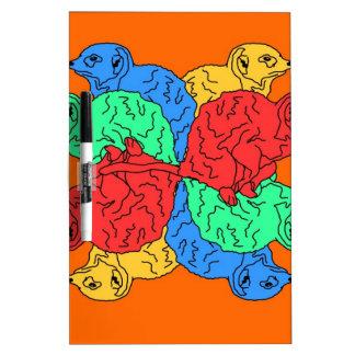 Kreis der Farborange Memoboards