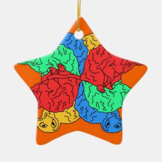 Kreis der Farborange Weihnachtsbaum Ornament