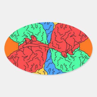 Kreis der Farborange Ovaler Aufkleber