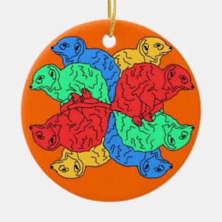 Kreis der Farborange Rundes Keramik Ornament