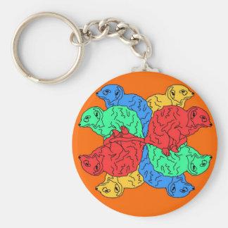 Kreis der Farborange Schlüsselanhänger
